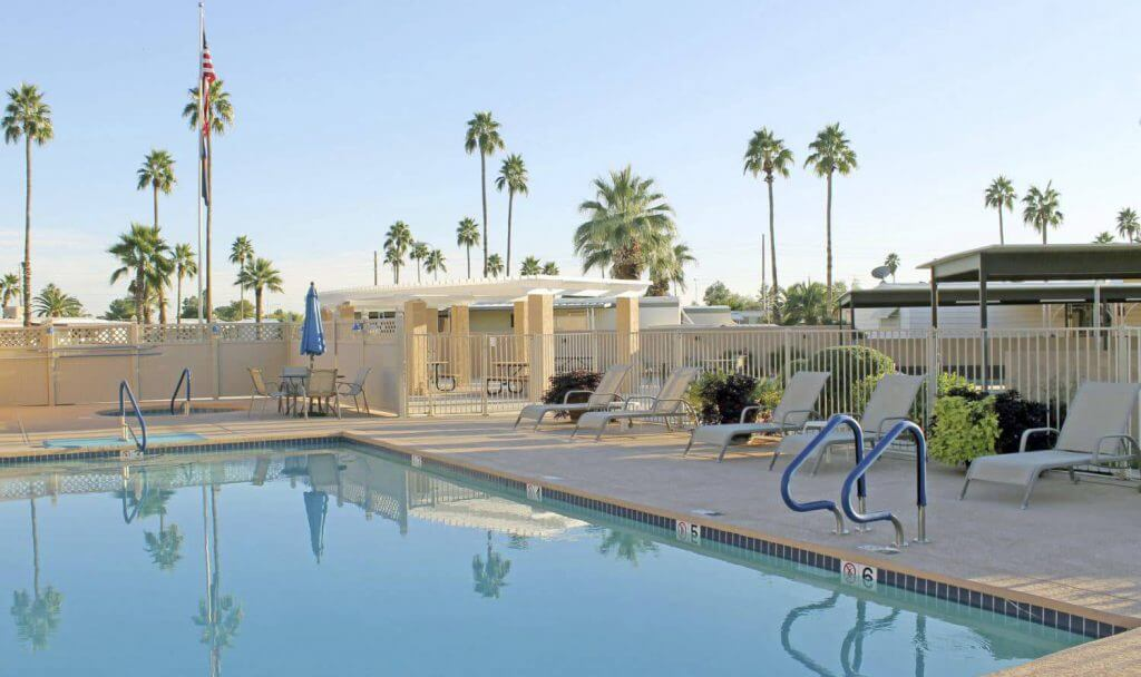 mesa 55 retirement community pool